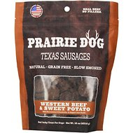 Prairie Dog Texas Sausages Western Beef & Sweet Potato Dog Treats, 16-oz bag