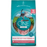 Purina ONE Healthy Kitten Formula Premium Dry Cat Food, 16-lb bag