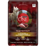 Purina ONE SmartBlend True Instinct with Real Turkey & Venison Adult Premium Dry Dog Food, 27.5-lb bag