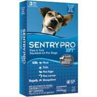 Sentry Pro XFT Flea & Tick Squeeze-On Dogs, 11-20 lbs, 3 treatments