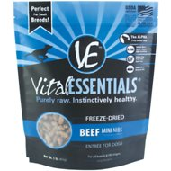 Vital Essentials Beef Entree Mini Nibs Freeze-Dried Dog Food, 1-lb bag