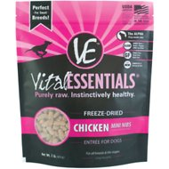 Vital Essentials Chicken Entree Mini Nibs Freeze-Dried Dog Food, 1-lb bag