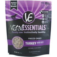 Vital Essentials Turkey Entree Mini Nibs Grain-Free Freeze-Dried Dog Food, 1-lb bag