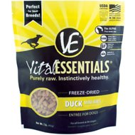 Vital Essentials Duck Entree Mini Nibs Freeze-Dried Dog Food, 1-lb bag