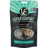Vital Essentials Wild Alaskan Salmon Rings Freeze-Dried Dog Treats, 2-oz bag