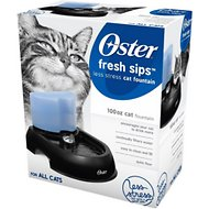 Oster Fresh Sips Less Stress Water Fountain for Cats, 100-oz