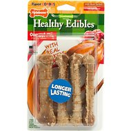 Nylabone Natural Healthy Edibles Turkey & Apple Small Dog Bone Treats, 4 count