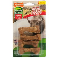 Nylabone Natural Healthy Edibles Wild with Real Bison Medium Dog Treats, 4 count