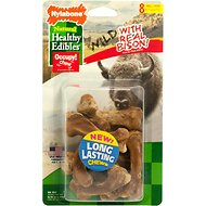 Nylabone Natural Healthy Edibles Wild with Real Bison Small Dog Treats, 8 count