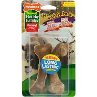 Nylabone Natural Healthy Edibles Variety Pack Bison & Venison Dog Treats, Medium