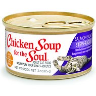 Chicken Soup for the Soul Salmon Stew with Red Skinned Potatoes & Spinach Adult Grain-Free Canned Cat Food, 3-oz, case of 24
