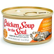Chicken Soup for the Soul Chicken Stew with Sweet Potatoes & Spinach Adult Grain-Free Canned Cat Food, 3-oz, case of 24