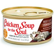 Chicken Soup for the Soul Beef Stew with Red Skinned Potatoes & Carrots Adult Grain-Free Canned Cat Food, 3-oz, case of 24