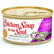 Chicken Soup for the Soul Salmon Souffle with Red Skinned Potatoes & Spinach Adult Grain-Free Canned Cat Food, 3-oz, case of 24