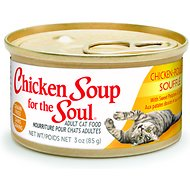Chicken Soup for the Soul Chicken Souffle with Sweet Potatoes & Spinach Adult Grain-Free Canned Cat Food, 3-oz, case of 24