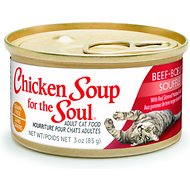 Chicken Soup for the Soul Beef Souffle with Red Skinned Potatoes & Carrots Adult Grain-Free Canned Cat Food, 3-oz, case of 24