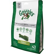 Greenies Veterinary Dental Chews Teenie Dental Dog Treats, 43 count