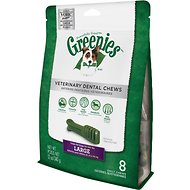Greenies Veterinary Dental Chews Large Dental Dog Treats, 8 count