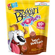 Beggin' Party Poppers Bacon & Steak Flavors Dog Treats, 25-oz bag