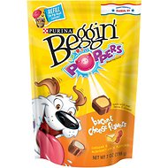 Beggin' Party Poppers Bacon, Cheddar & Monterey Jack Cheese Flavors Dog Treats, 7-oz bag