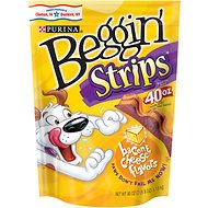 Beggin' Strips Bacon & Cheese Flavors Dog Treats, 40-oz bag