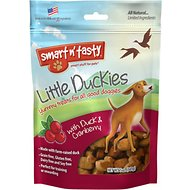 Smart n' Tasty Little Duckies with Duck & Cranberry Dog Treats, 5-oz bag