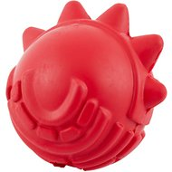 Dogzilla Spiked Ball Dog Toy, Red