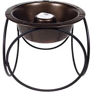 Platinum Pets Olympic Diner Elevated Slow Dog Bowl, Copper Vein, Large
