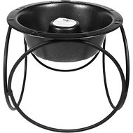 Platinum Pets Olympic Diner Elevated Slow Dog Bowl, Silver Vein, Large
