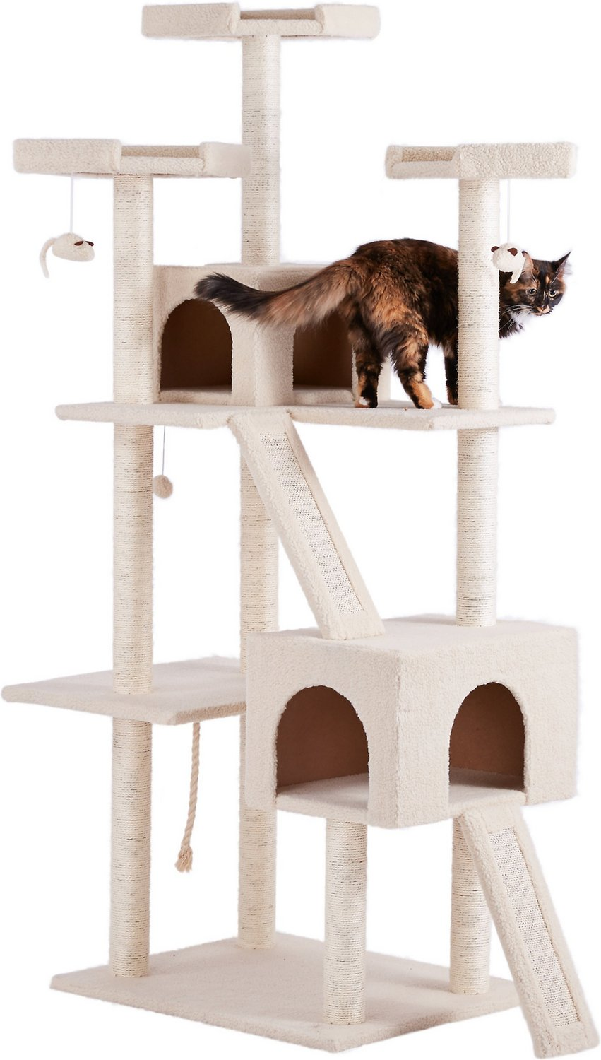 Frisco 72-in Cat Tree, Large Base, Brown recommendations