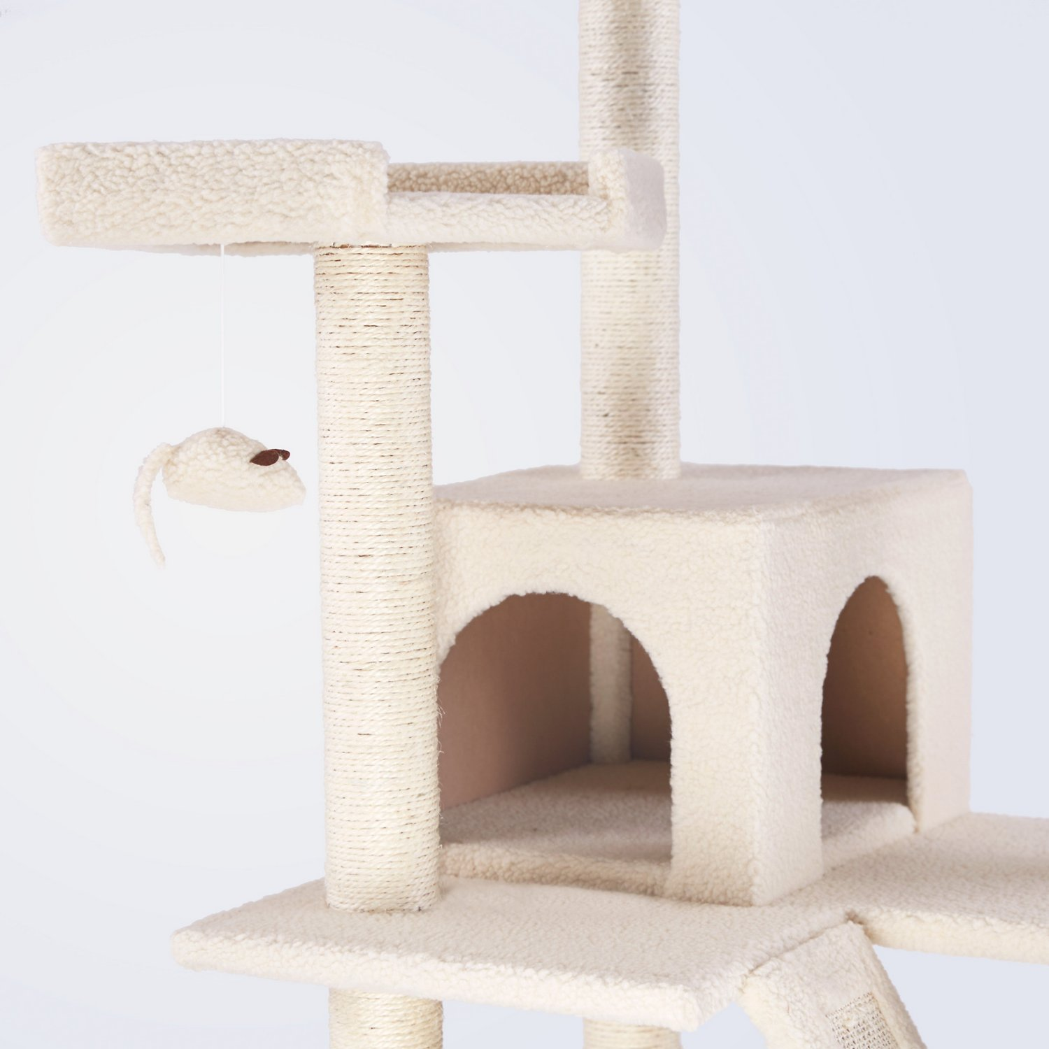 Frisco 72-Inch Cat Tree, Large, Cream - Chewy.com