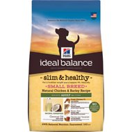 Hill's Ideal Balance Slim & Healthy Small Breed Natural Chicken & Barley Recipe Adult Dry Dog Food, 3.5-lb bag