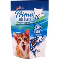 Prime Taste Treats Dental Tasty Tuna Flavor Cat Treats, 2.1-oz bag
