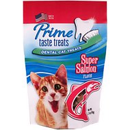 Prime Taste Treats Dental Super Salmon Flavor Cat Treats, 2.1-oz bag