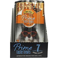 Prime Taste Treats Interactive Jerky Snacks Duck Flavor Cat Treats, 7 count