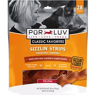 Pur Luv Sizzlin Strips Chicken & Sweet Potato Treats for Dogs, Regular, 28-oz bag