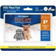 PetArmor FastCaps Oral Flea Tablets for Dogs & Cats, 2-25 lbs, 6-count