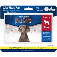 PetArmor FastCaps Oral Flea Tablets for Dogs over 25 lbs, 6-count