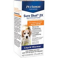 PetArmor Sure Shot 2X Liquid Wormer for Puppies & Dogs up to 120 lbs, 2-oz bottle