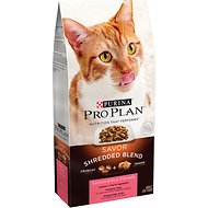 Purina Pro Plan Savor Adult Shredded Blend Salmon & Rice Formula Dry Cat Food, 14-lb bag