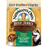 Newman's Own Organics Beef Jerky Original Recipe Dog Treats, 5-oz bag