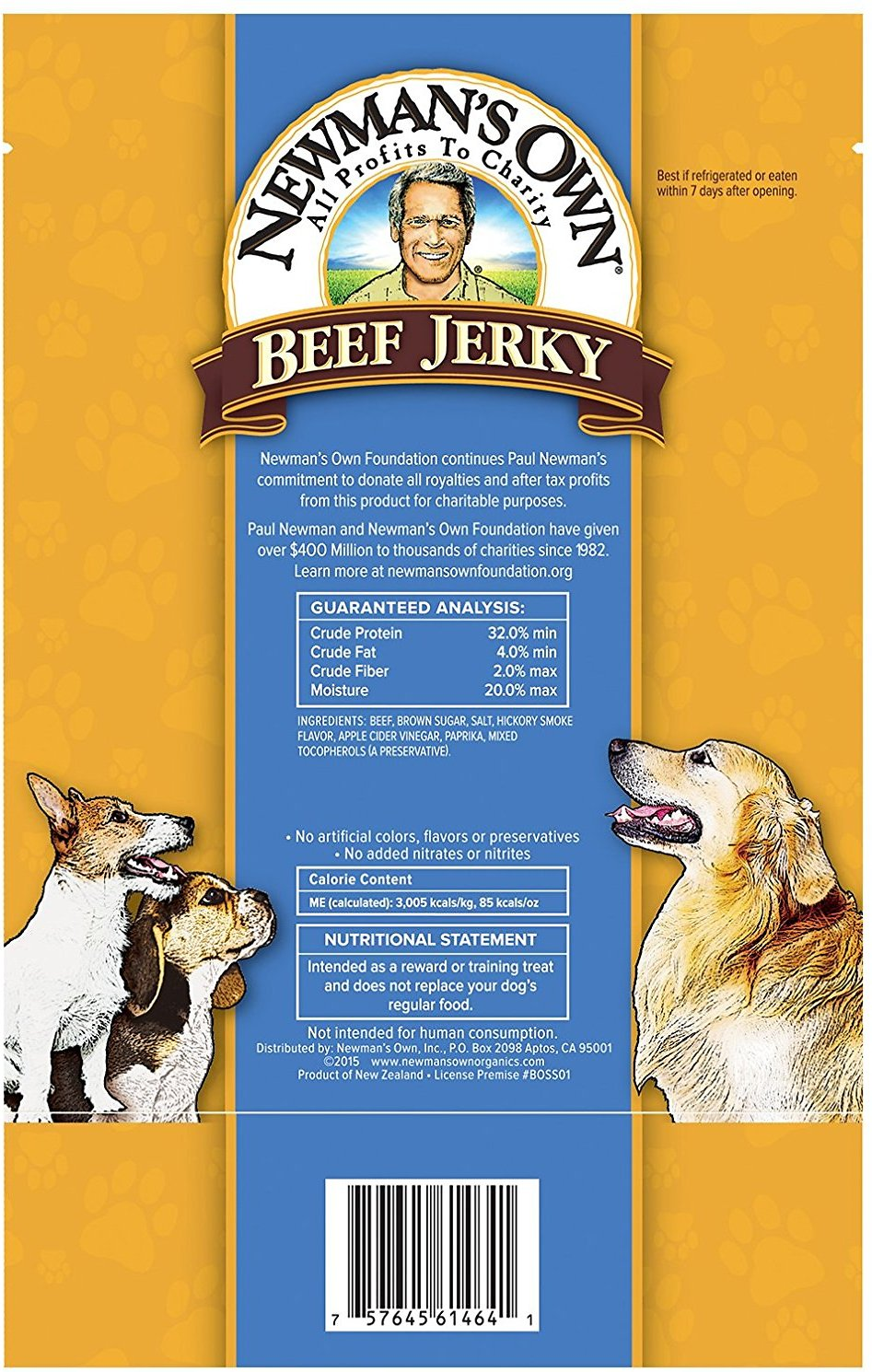 Newman S Own Dog Beef Jerky
