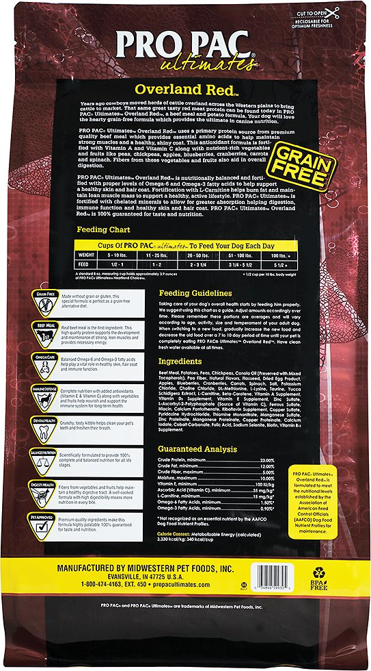Pro Pac Ultimates Overland Red Beef Amp Potato Grain Free