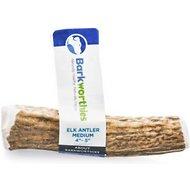 Barkworthies Medium Elk Antler Dog Chews, Whole Chew