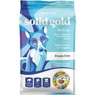 Solid Gold Wolf Cub Bison & Oatmeal Puppy Formula Dry Dog Food, 24-lb bag