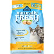 Blue Buffalo Naturally Fresh Walnut-Based Ultra Odor Control Multi-Cat Quick-Clumping Cat Litter, 6-lb bag