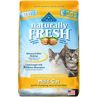 Blue Buffalo Naturally Fresh Walnut-Based Ultra Odor Control Multi-Cat Quick-Clumping Cat Litter, 26-lb bag