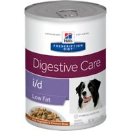 Hill's Prescription Diet i/d Digestive Care Low Fat Rice, Vegetable & Chicken Stew Canned Dog Food, 12.5-oz, case of 12