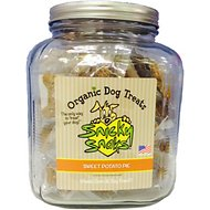 Snicky Snaks USDA Certified Organic Sweet Potato Pie Dog Treats in Glass Jar