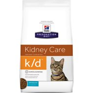 Hill's Prescription Diet k/d Kidney Care with Ocean Fish Dry Cat Food, 4-lb bag